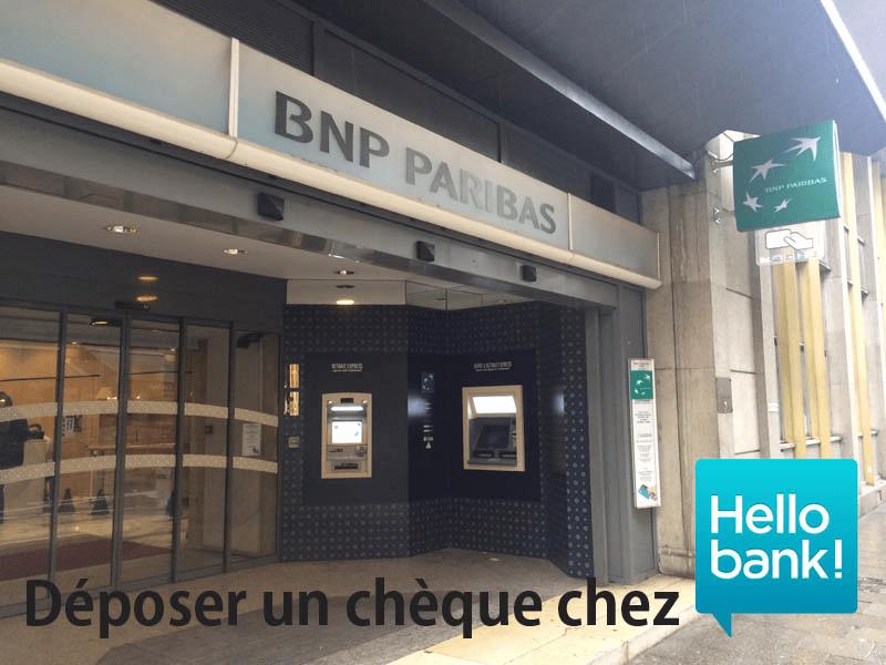 depot cheque Hello Bank