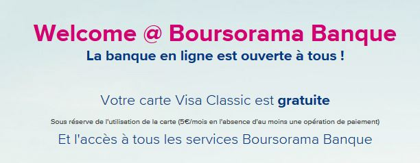 welcome boursorama banque