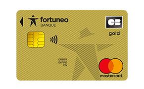 La carte bancaire Gold Mastercard de Fortuneo Banque