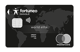 La carte bancaire World Elite Mastercard de Fortuneo Banque