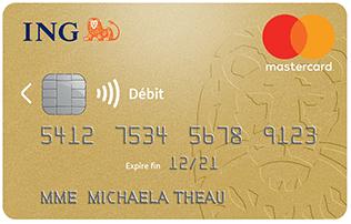 La carte Gold Mastercard de la banque en ligne ING Direct