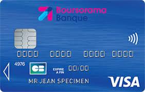 La carte bancaire Visa Classic de proposée par Boursorama Banque