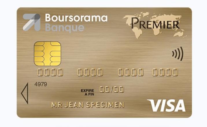 Zoom sur la carte Visa Premier Boursorama