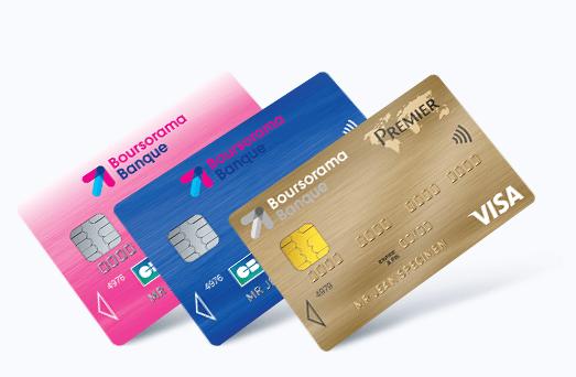 Les trois cartes bancaires proposées par Boursorama