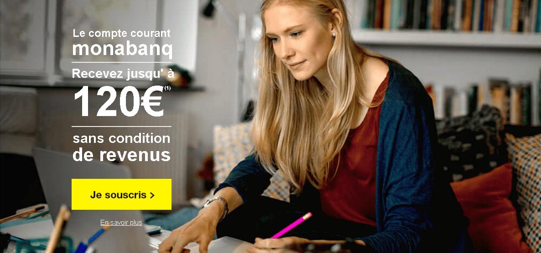 L'offre de compte bancaire de 2 € de Monabanq