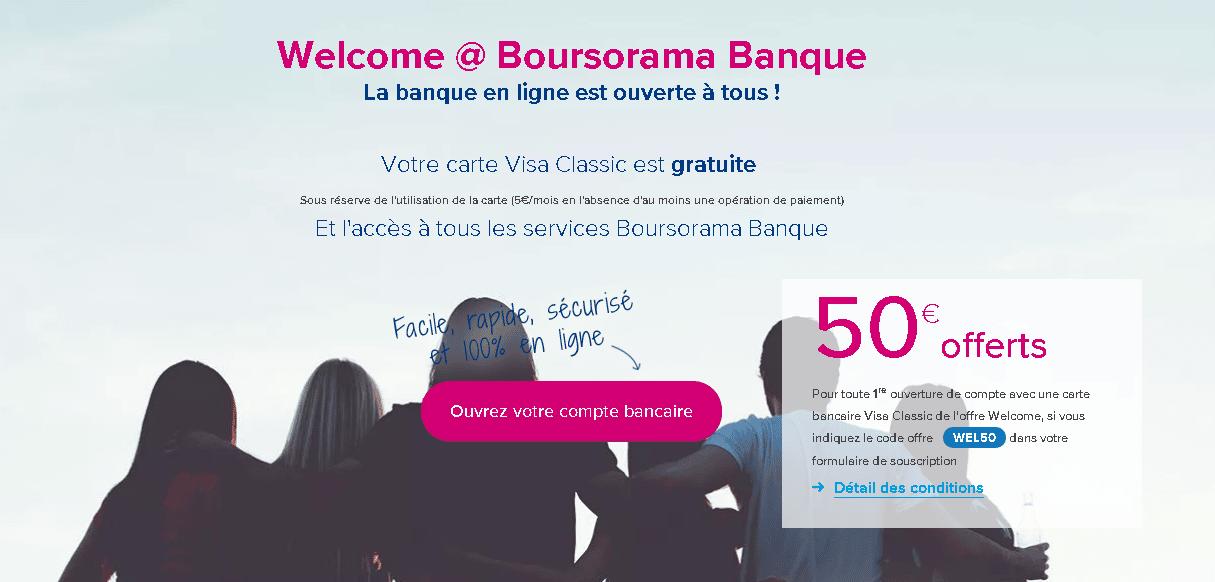 L'offre Welcome de Boursorama Banque