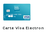 carte visa electron Hello Bank