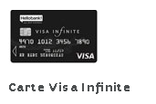 carte visa infinite Hello Bank