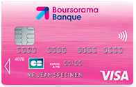 Carte Visa Classic via l'offre Welcome de Boursorama Banque