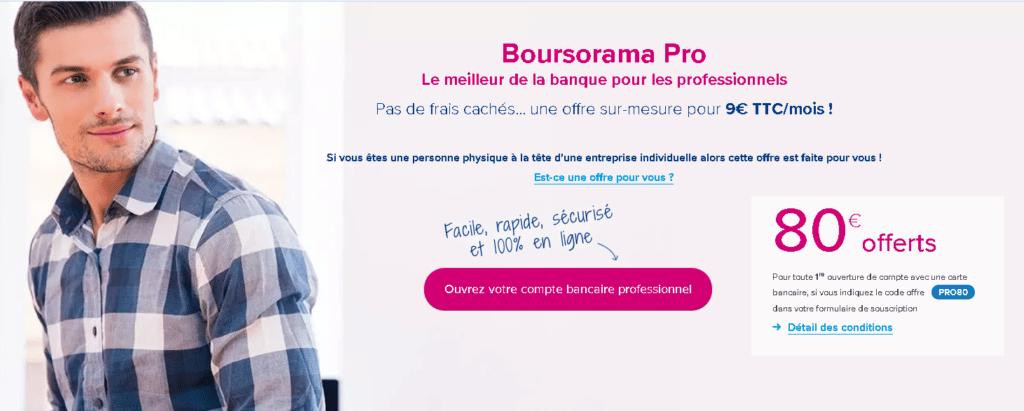 Le compte bancaire auto-entrepreneur de Boursorama Banque