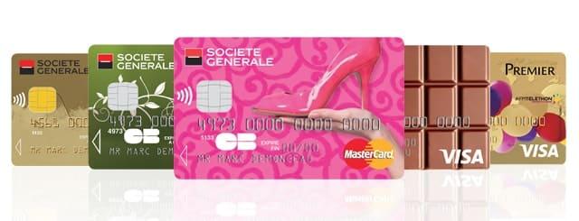 Zoom sur l'offre de carte bancaire Société Générale