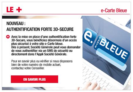 Service e-carte bleue Société Générale