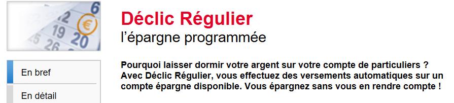 Option Déclic Régulier Société Générale
