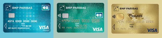 cartes bancaires bnp paribas