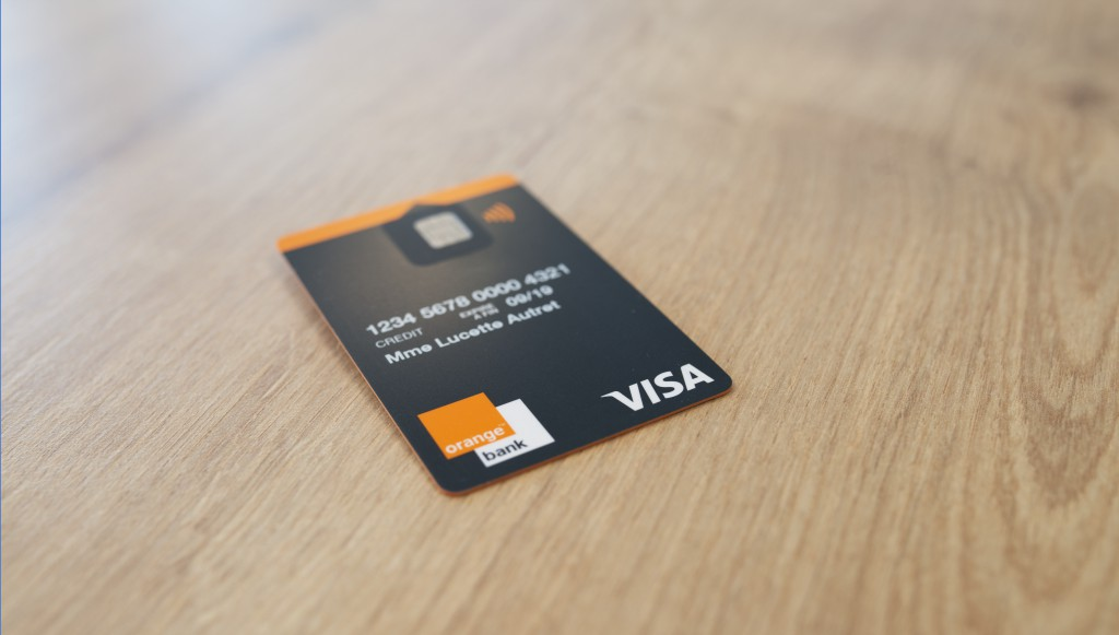 Orange Bank carte bancaire Visa