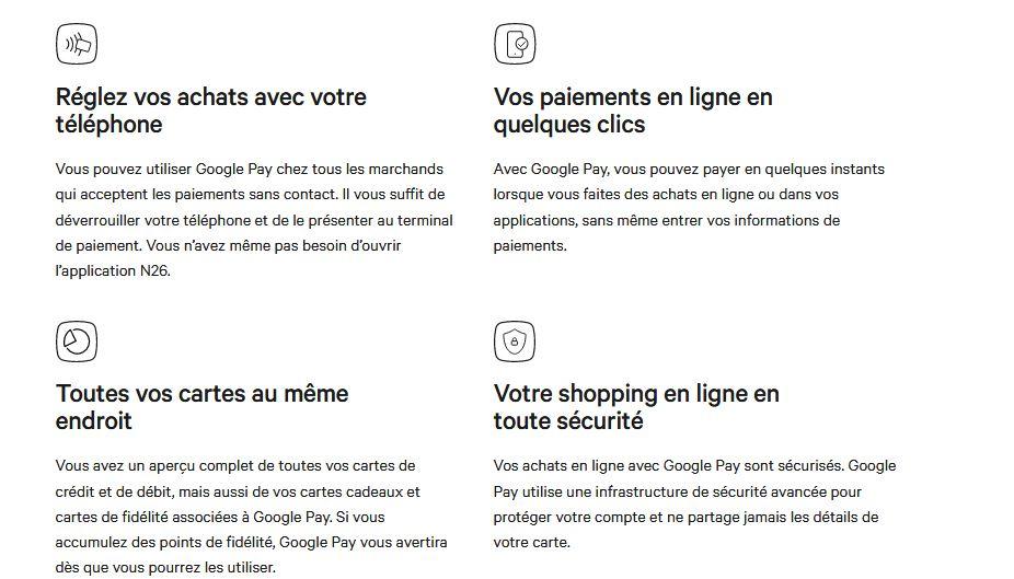 avantages Google Pay
