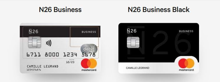 N26 Business et N26 Business Black