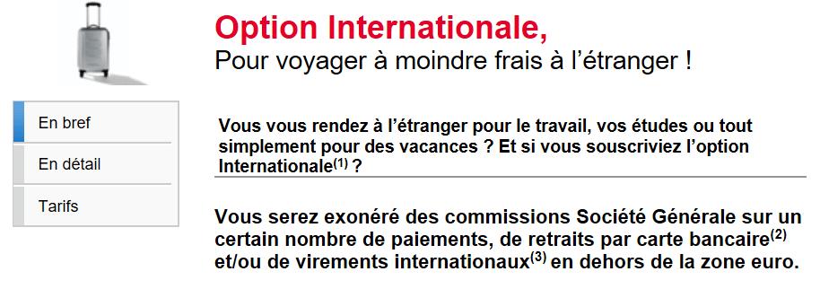 Résumé de Jazz option internationale - Société Générale