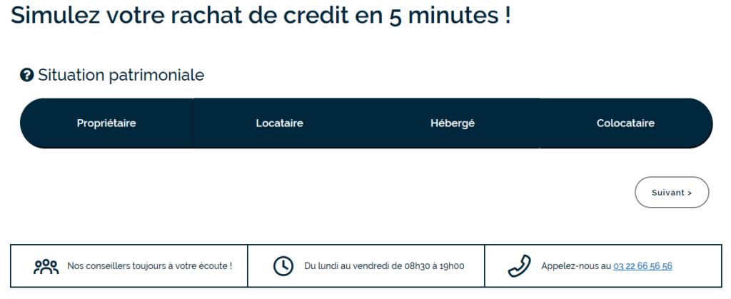 simulation de rachat de crédit chez Credigo