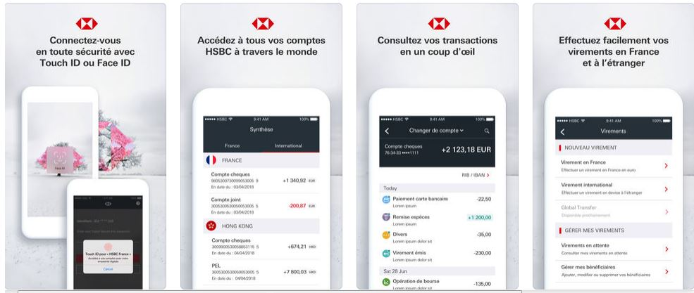 appli mobile HSBC stores