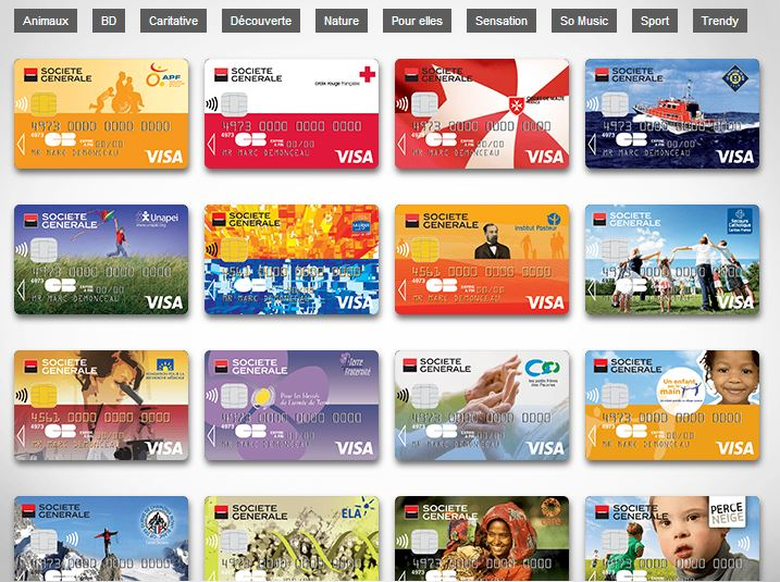 cartes bancaire collection SG