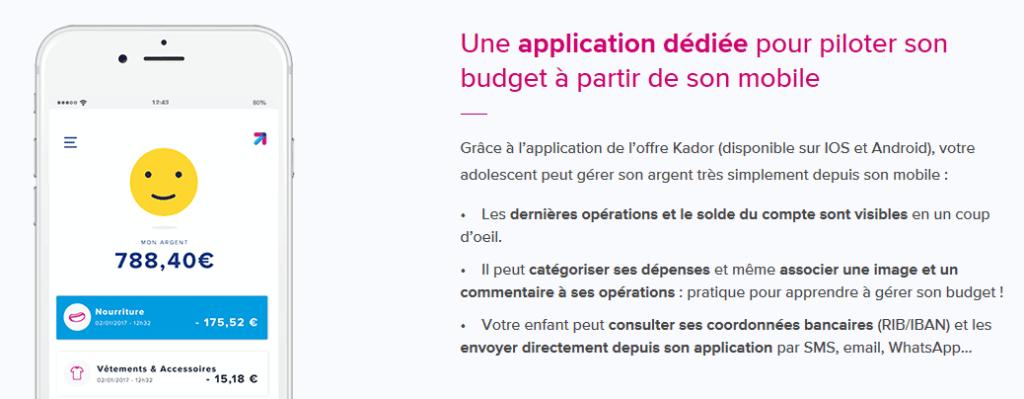 L'application Kador