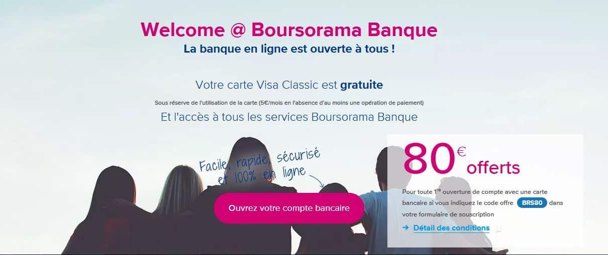carte welcome autorisation systématique boursorama banque