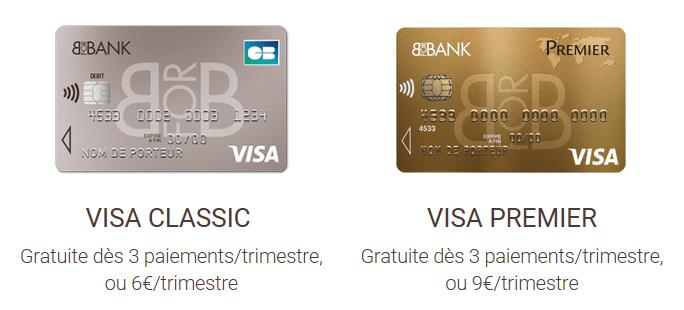 bforbank : cartes gratuites