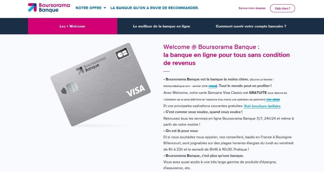 découvert autorisé carte visa welcome