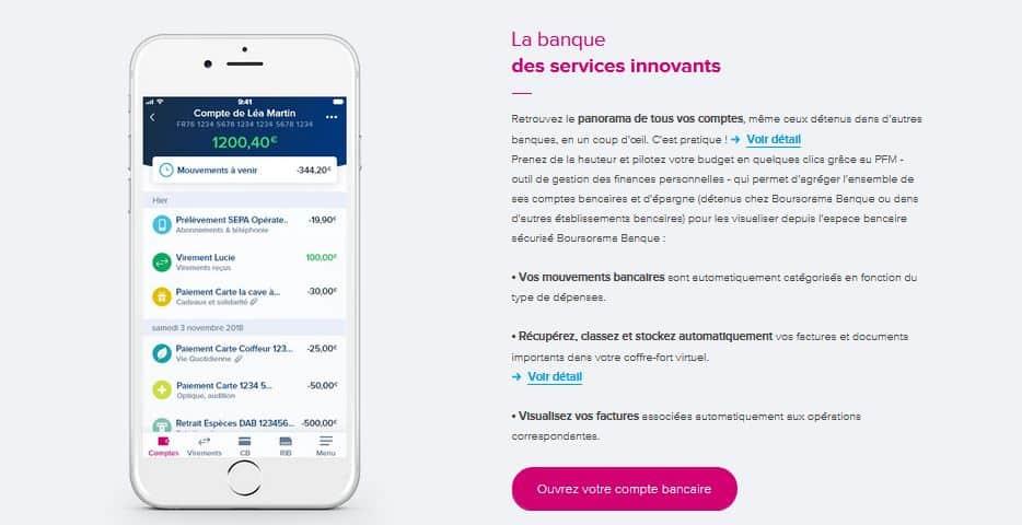 appli mobile Boursorama Banque