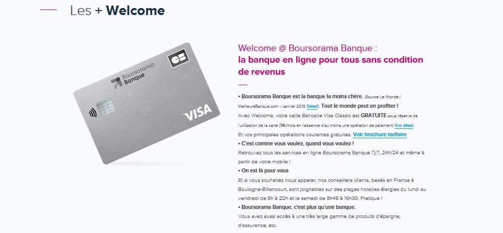 boursorama banque sans conditions de revenus