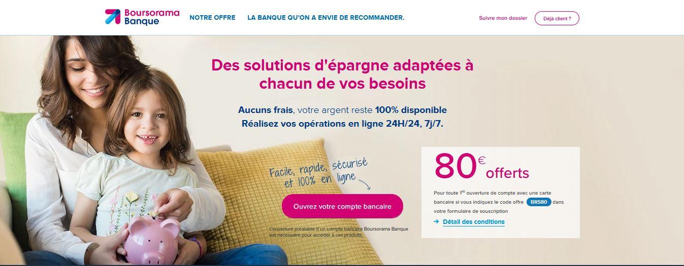 80€ offerts Livret