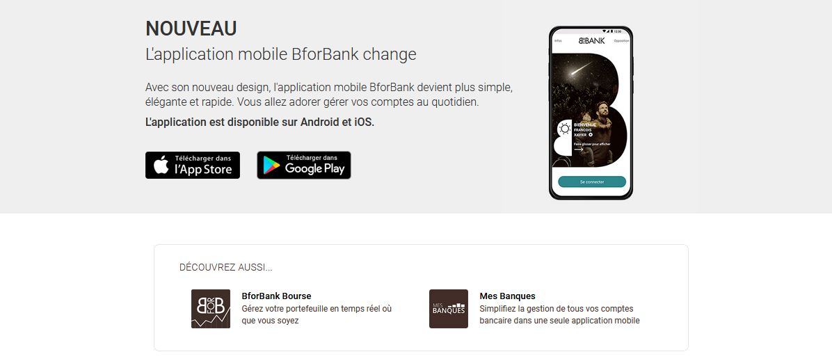 l'appli mobile BforBank