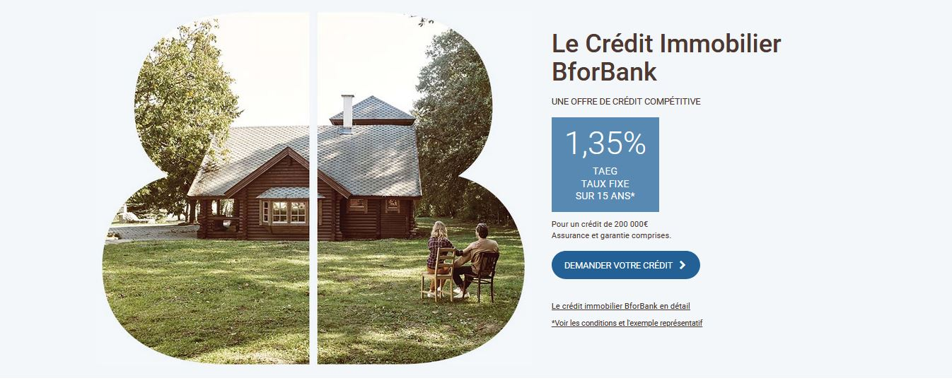 taux crédit immo bforbank