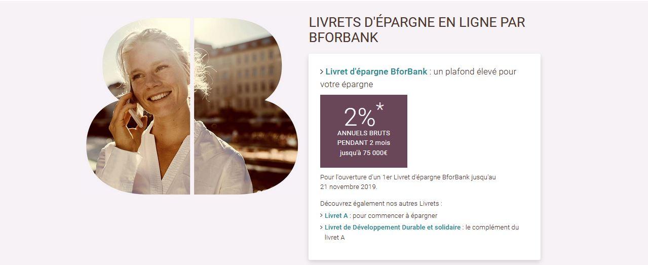 promo livret Bforbank