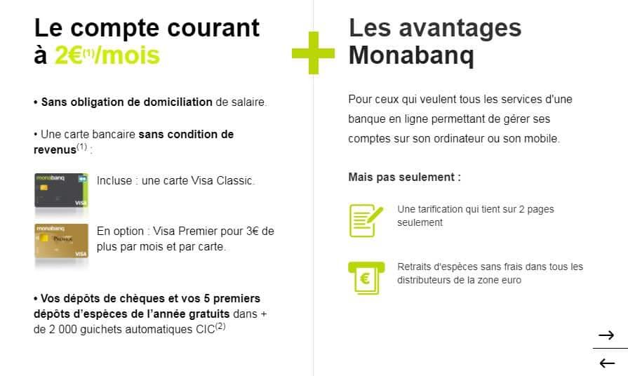 compte courant Monbanq