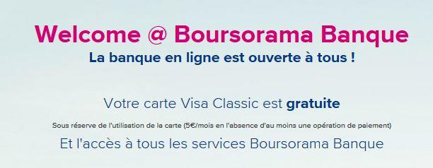 welcome boursorama banque