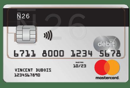 Avis carte banque en ligne Visa Mastercard Standard N26