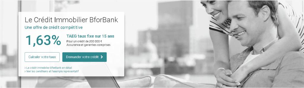 L'offre de prêt immobilier de BforBank