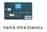 carte visa classic Hello Bank
