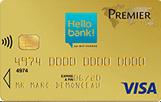 L'offre de carte visa premier gratuite hello bank