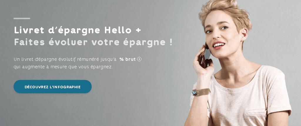 Le livret d'épargne Hello +