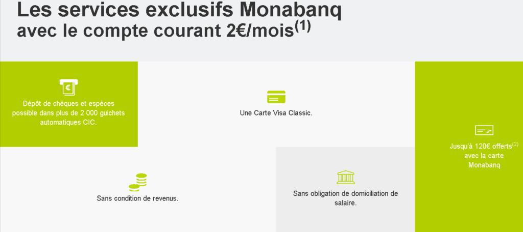 Avantages de l'offre de compte commun chez Monabanq