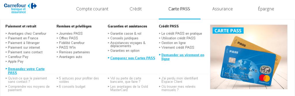 Moyens de paiement de Carrefour Bank