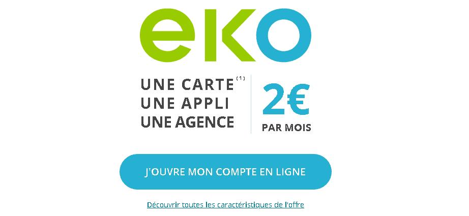offre bancaire Eko à 2€ par mois