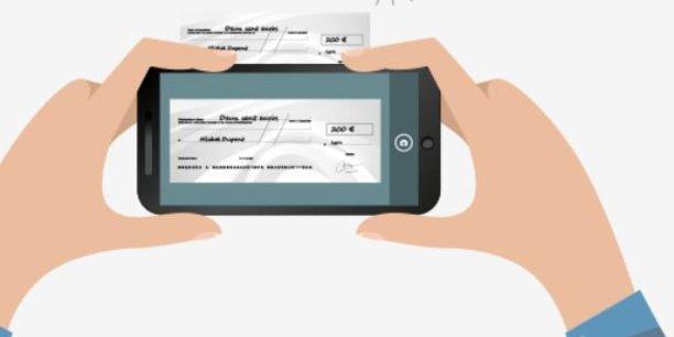Déposer un chèque en scannant - option possible chez BforBank