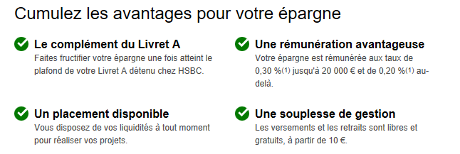 Epargne HSBC