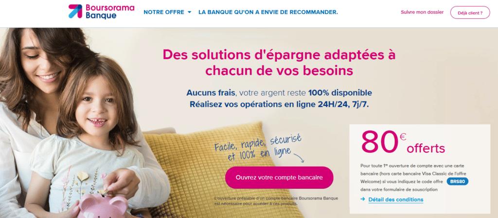 Epargne Boursorama Banque
