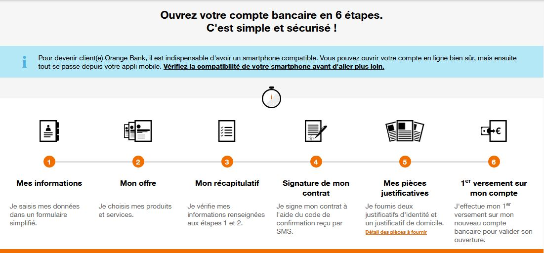 pièces justificatives Orange Bank