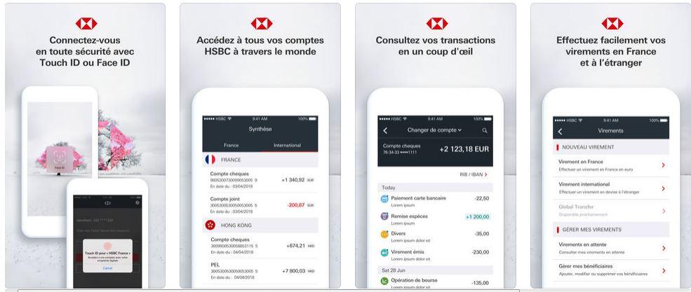 appli mobile HSBC stores